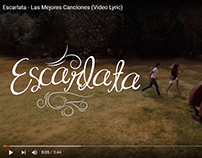 Video lyric Las mejores canciones · ESCARLATA