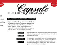 Capsule Clothing Co. Website