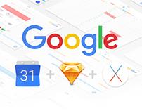 Google Calendar OS X App Concept