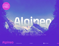 Alpineo - A display type family
