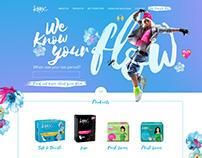 Website Design: Kotex Philippines