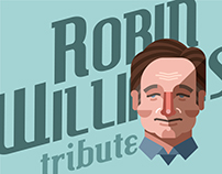 FREE DOWNLOAD POSTER - Robin Williams vector portrait