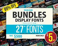 Year End BUNDLE Display Font