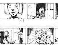 """Storyboard """"Post Mortem"""" un cortometraje de Amara Moste"""