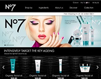 No7 Full Design E-Commerce Site