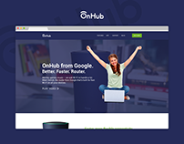 Google OnHub Landing Page Redesign Concept