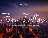 Fiona Lattina - Free Handwritten Font