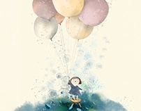 Girl with baloons