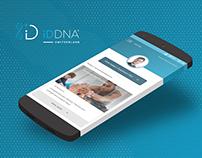 iDDNA. Several app screens