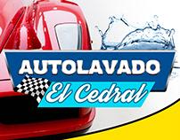 """Banner impreso Autolavado """"El Cedral"""""""