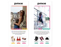 Newsletters et instagram pour Pimkie