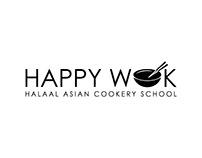 Happy Wok Logo Design