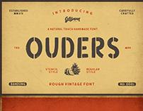 Downlaod OUDERS - Stencil & Regular Font Free