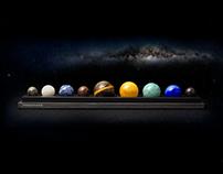 DeskSpace - Sophisticated Solar System Desktop Model