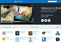 Intel RealSense App Showcase UI Mockups