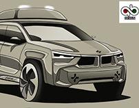 new style BMW sketch