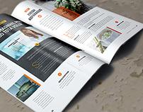 A4 Brochure Magazine Mockup 4