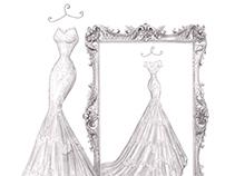 'Naomi' - Wedding Dress Illustration