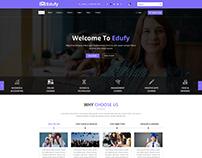 EDUFY Courses, Education PSD Template