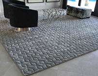 Hand carved luxurious rug