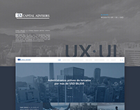 Website UI · UX • CAPITAL ADVISORS
