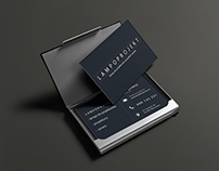 Business card and logo - Lampoprojekt