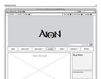 aiononline.com IA and Wireframes