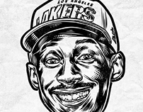 NBA Portraits: Noir and Blanc (updating)