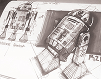 7 minute sketch - R2D2 Star Wars fan art