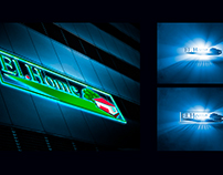 Outdoor advertising for the company El.Home
