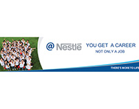 Banner Ads on Website for Nestle