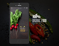 Promo page for Organic Food