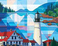 QUILTED AMERICAN LANDSCAPES: Acadia Maine