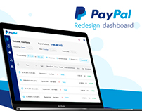 Redesign PayPal dashboard