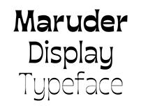 Maruder typeface