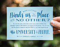 Hand Lettered Charles Kuralt Quote