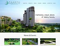 Paarth Infra - Website Design