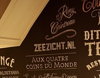 Cointreau Wallpainting At Café Zeezicht Breda