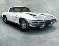 Commissioned Corvette Painting