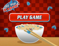 All Star Karate Wii Game 2010 - Chopsticks Banner