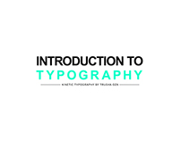 Introduction To Typography (Kinetic Typography)