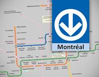 Montréal Metro map