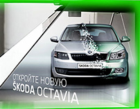 Idea how to exhibiting restyling model of Skoda Oktavia