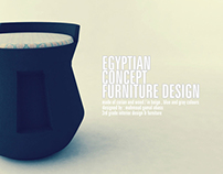 egyptian-inspired furniture design