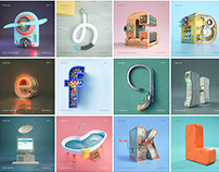 Greatest Inventions - 36 days of type Alphabets.