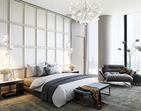 Luxury Bedroom Design. 3D Renderings.