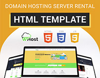 WHost-Domain Hosting Server Rental with WHMCS Template