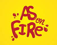 as on fire