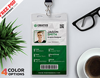 Free Office Identity Cards Design PSD Bundle