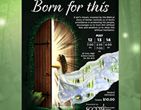 """Born for This"" ballet poster design."